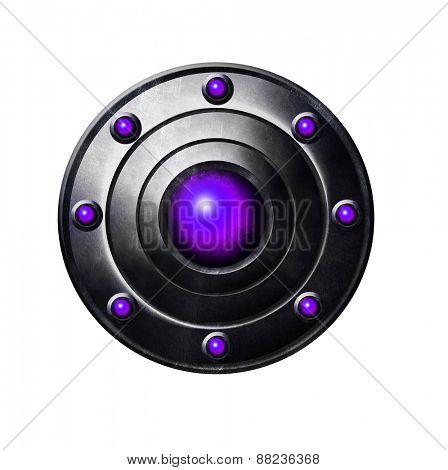 Purple Metal button