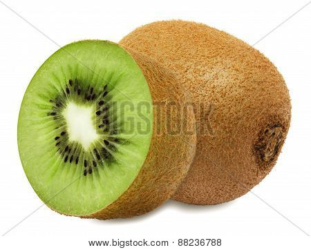 Juicy kiwi with section