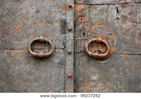 Old Vintage Metal Door Texture