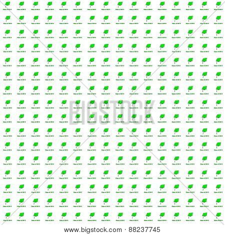Class of 2015 Green on White Very Small Pattern