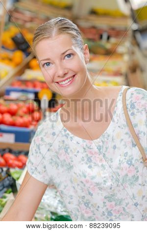 Woman doing her weekly shop