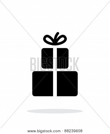 Gifts iicon on white background.