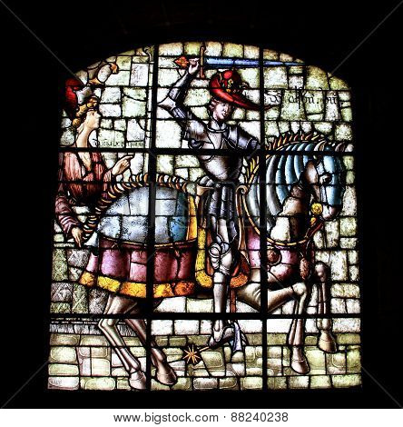 Stained Glass From Alcazar Of Segovia Spain