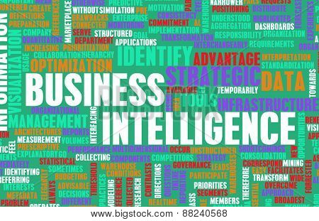 Business Intelligence Information Technology Tools as Art in Green and Red