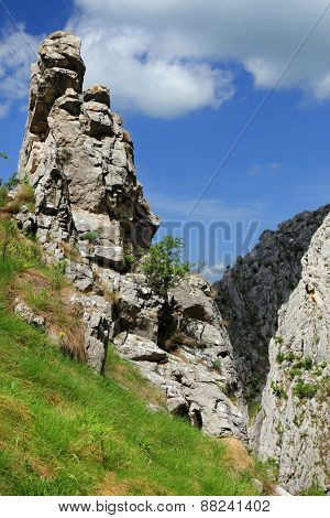 Spring landscape in Piatra Secuiului Mountain (1129m), Transylvania, Romania, Europe