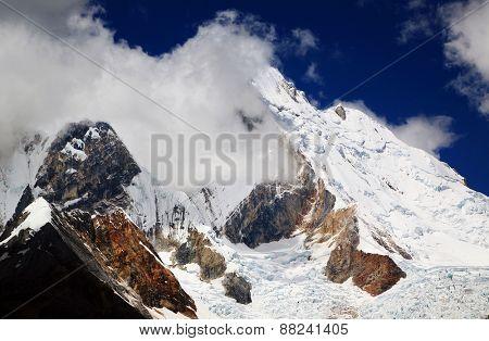 Yerupaja (6635m) in Cordiliera Huayhuash, Peru, South America