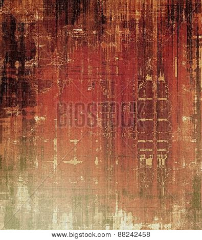 Old abstract texture with grunge stains. With different color patterns: brown; gray; black; red (orange)