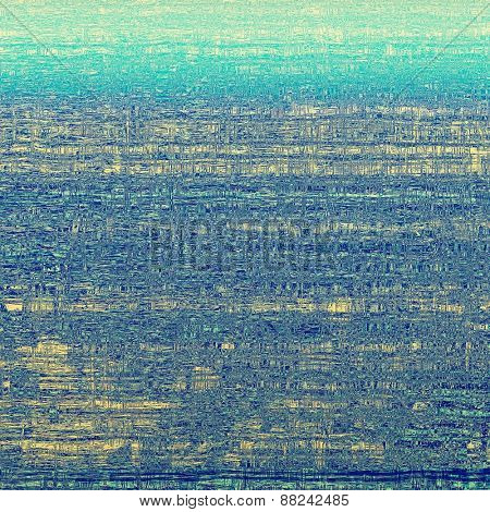 Vintage texture for background. With different color patterns: yellow (beige); cyan; blue