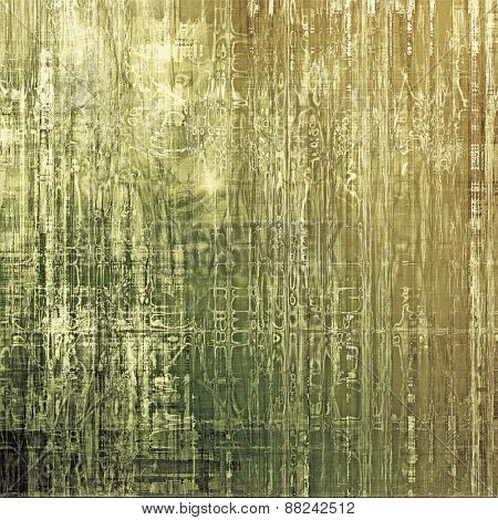 Antique vintage textured background. With different color patterns: yellow (beige); brown; gray; green