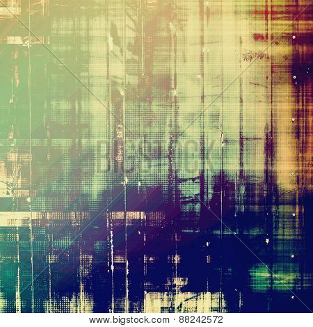 Old abstract texture with grunge stains. With different color patterns: yellow (beige); green; purple (violet); blue