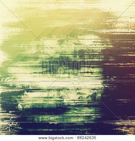 Grunge old texture as abstract background. With different color patterns: yellow (beige); green; purple (violet)
