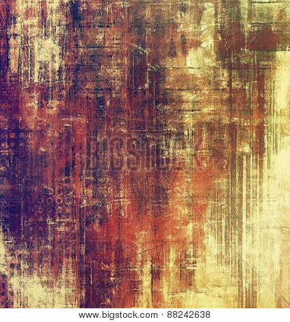 Old texture with delicate abstract pattern as grunge background. With different color patterns: yellow (beige); brown; red (orange); purple (violet)