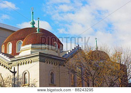 Sixth and I Historic synagogue in Chinatown neighborhood Washington DC.