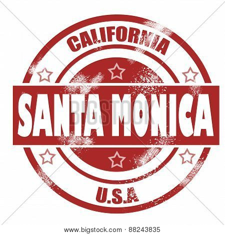 Santa Monica Stamp