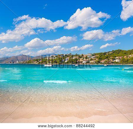 Platja de Alcudia Auanada beach in Mallorca Majorca Balearic islands
