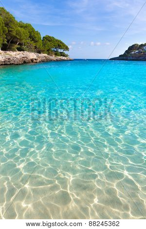 Majorca Cala Gran Beach in Cala Dor in Mallorca Santanyi at Balearic Islands of Spain