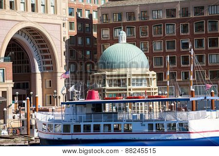 Boston Rowes Wharf in Massachusetts USA