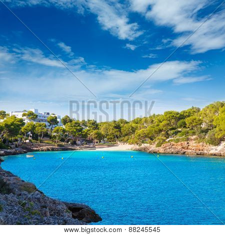 Majorca Cala Dor d Or beach in Mallorca Santanyi at Balearic Islands of Spain