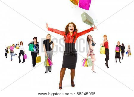 Women Shopping Shopping Spree