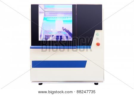 Dental milling machine  isolated under the white background