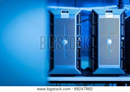 Computer Network Servers In Data Room