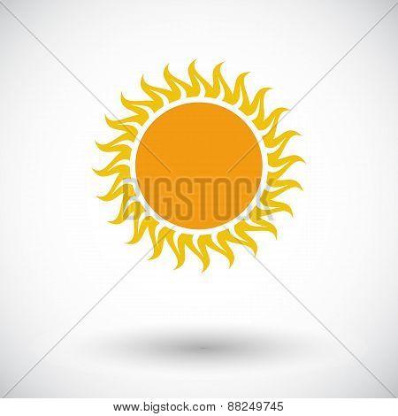 Sun single flat icon.