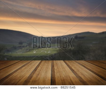 Stunning Landscape Of Chrome Hill And Parkhouse Hill In Peak District In Uk Concept Image
