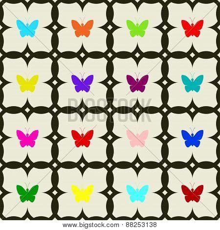Seamless of butterflies.