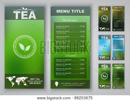 Design Of A Tea Menu With Blurred Background
