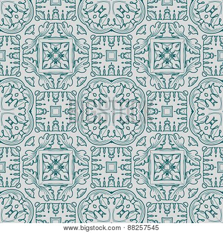 Abstract vintage geometric pattern seamless background.