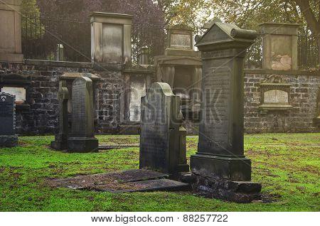 Greyfriars Kirkyard graveyard in Edinburgh