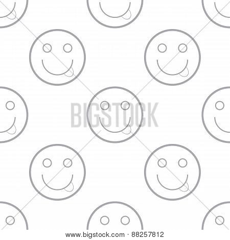 Smiling emoticons pattern