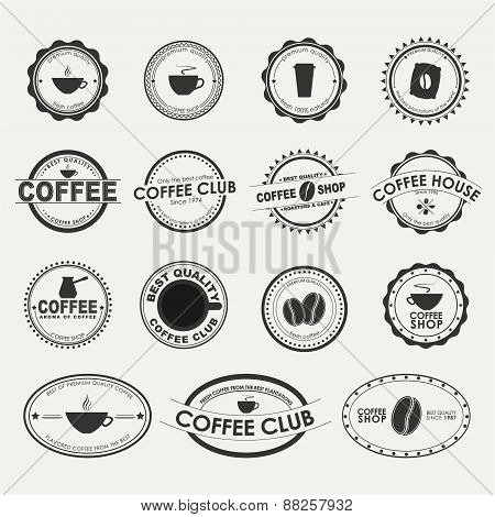 Set Of Vintage Coffee Logos