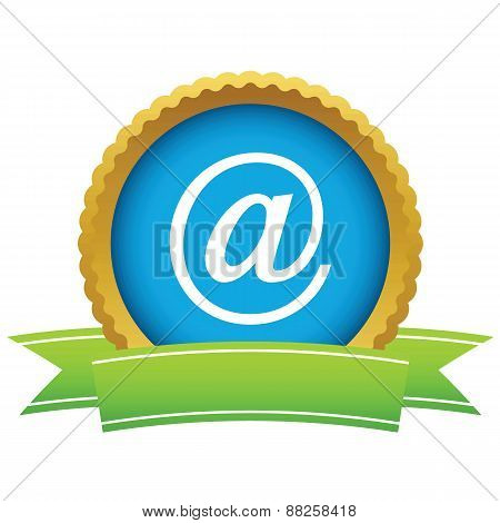 Gold email logo