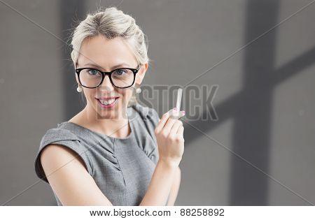 Cheerful young teacher