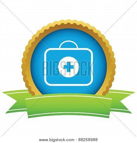Gold doctor bag logo