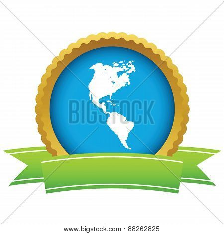 Gold continent America logo