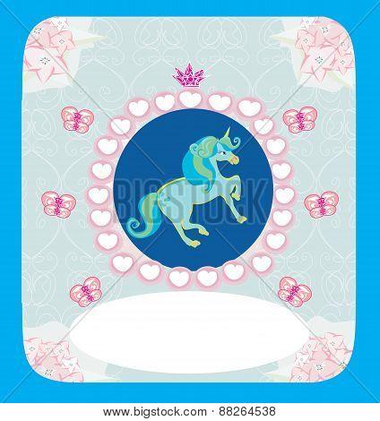 Beautiful Unicorn Card