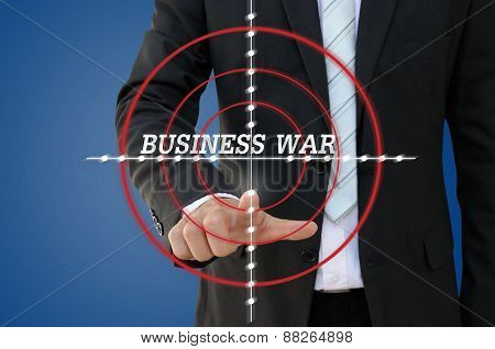Business War Games of competition concept