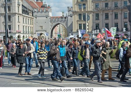 Anti TTIP Protest In Munich Germany