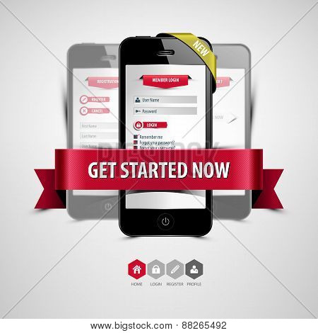 Register And Login From Your Smartphone