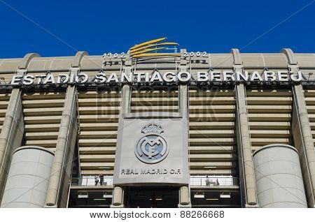 Facade Stadium Real Madrid