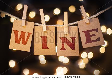 Wine Concept Clipped Cards And Lights