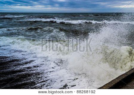 Crashing Waves And Spray