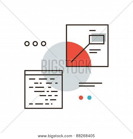 Digital Interface Flat Line Icon Concept