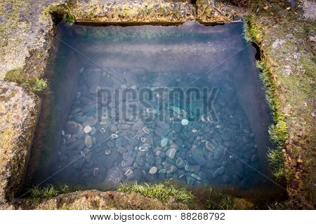 Reflection Pond With Stones