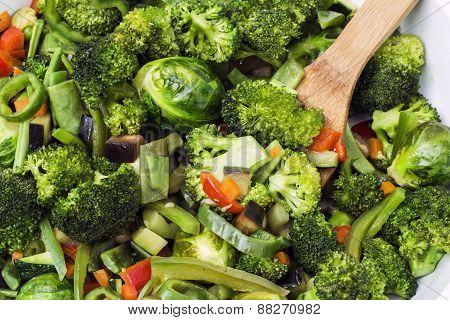 Mixed vegetables dish