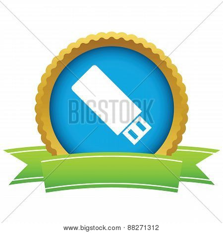Gold usb stick logo