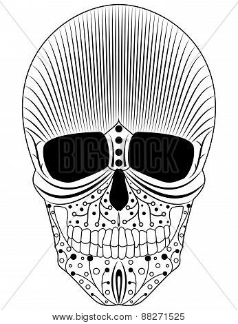 Artistic decorative skull