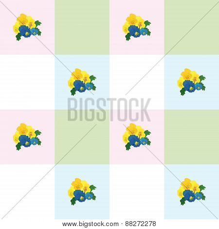 illustration of flowers pansies